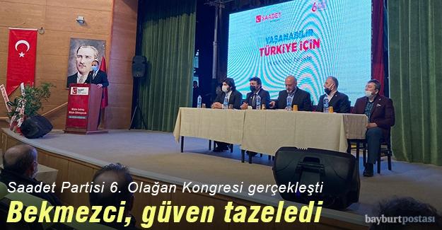 Saadet Partisi Bayburt İl Başkanı Abdulmecit Bekmezci, güven tazeledi