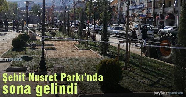 Şehit Nusret Parkı'nda yoğun mesai
