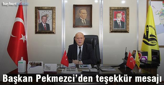 Başkan Pekmezci'den Teşekkür Mesajı