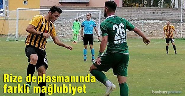 Bayburt Özel İdarespor, Pazarspor'a farklı mağlup