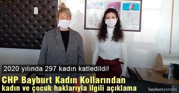 CHP Bayburt Kadın Kollarından kadın ve çocuk haklarıyla ilgili açıklama