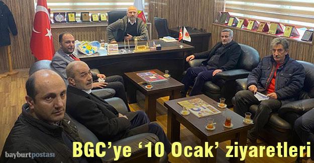 Bayburt Gazeteciler Cemiyeti'ne '10 Ocak' ziyaretleri