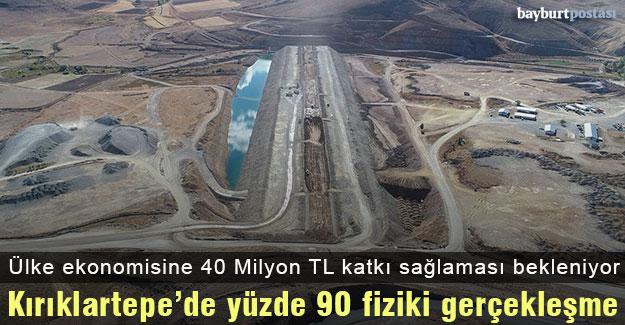Kırklartepe Barajı'nda yüzde 90 fiziki gerçekleşme