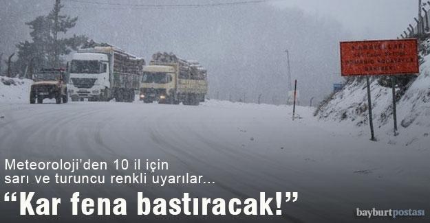 """Meteoroloji uyardı: """"Kar fena bastıracak!"""""""