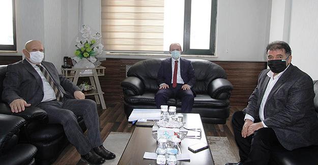 Vali Epcim ve Milletvekili Battal'dan Başkan Pekmezci'ye Ziyaret
