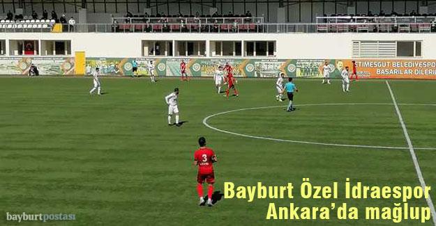 Bayburt Özel İdarespor, Etimesgutspor deplasmanından boş döndü