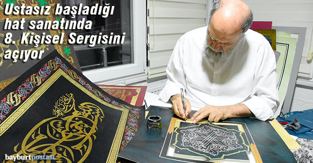 Hattat Mustafa Antika, 8. Kişisel Sergisinin hazırlığında