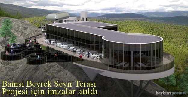 Bamsı Beyrek Seyir Terası Projesi için imzalar atıldı