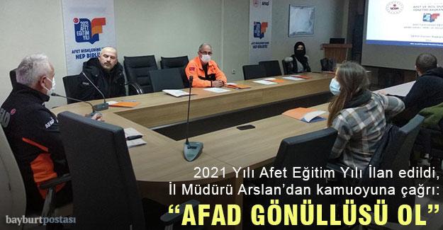 """Sen de """"AFAD GÖNÜLLÜSÜ OL"""""""