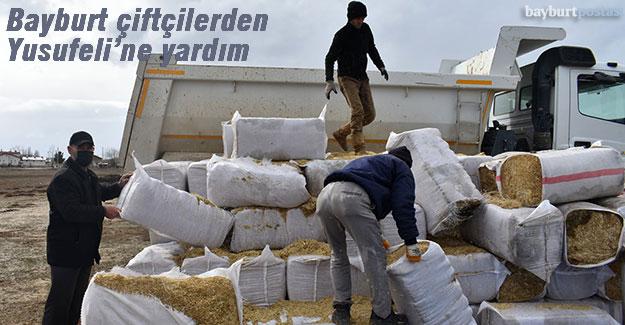 Bayburtlu çiftçilerden Yusufeli'ne yardım