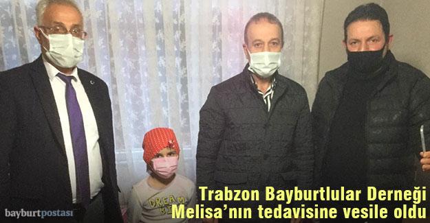 Trabzon Bayburtlular Derneği, Melisa'nın tedavisine vesile oldu