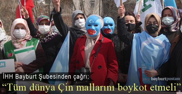 Bayburt İHH'dan Çin Mallarına Boykot Çağrısı