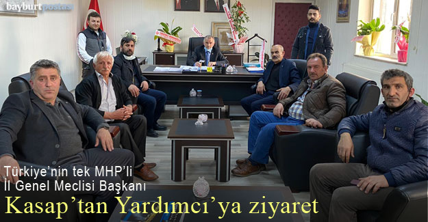 MHP'den Bayburt İl Genel Meclisi Başkanı Bülent Yardımcı'ya ziyaret
