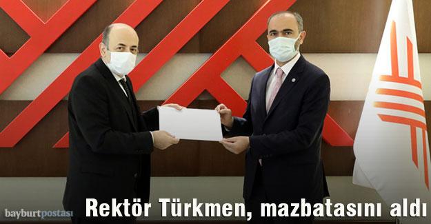 Rektör Türkmen, YÖK'ten Mazbatasını Aldı