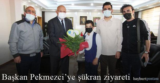 Başkan Pekmezci'ye şükran ziyareti