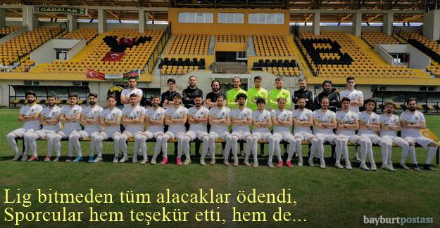Bayburt Özel İdarespor sporcularından Başkan Çalışkan'a teşekkür