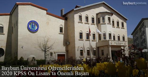 Bayburt Üniversitesi Öğrencilerinden 2020 KPSS Ön Lisans'ta Önemli Başarı