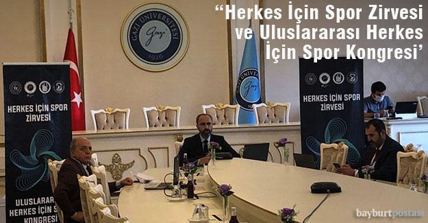 'Herkes İçin Spor Zirvesi' ve 'Uluslararası Herkes İçin Spor Kongresi' Başladı