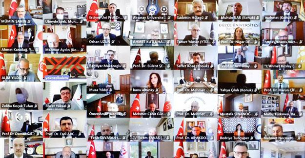Rektör Türkmen,Çevrim İçi Düzenlenen 'Engelsiz Üniversite Ödülleri' Programına Katıldı