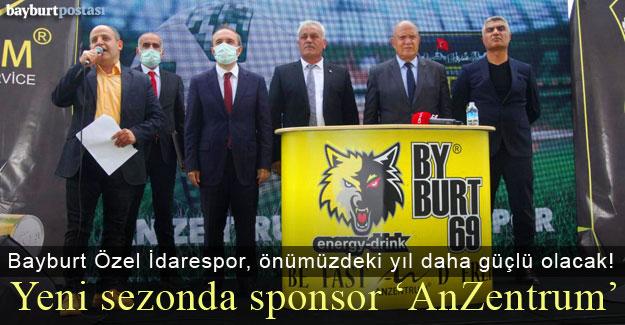 Bayburt Özel İdarespor'un forma sponsoru 'AnZentrum'