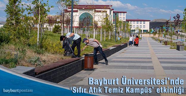 Bayburt Üniversitesi'nde 'Sıfır Atık Temiz Kampüs Bayram Temizliği' etkinliği