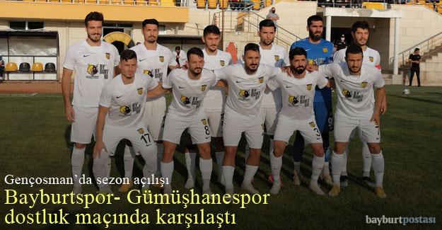AN Zentrum Bayburtspor, sezon açılışında Gümüşhanespor'la dostluk maçı yaptı