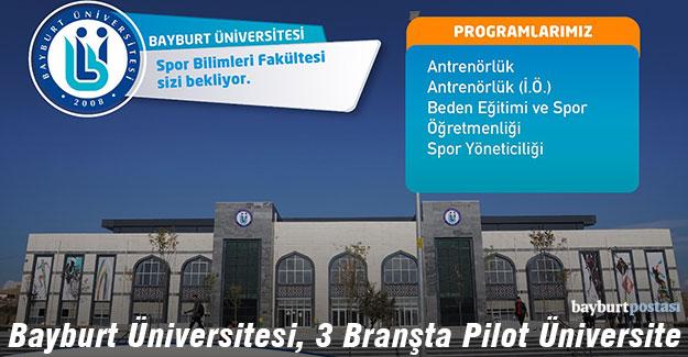 Bayburt Üniversitesi; Halter, Boks ve Ragbi Spor Branşında Pilot Üniversite