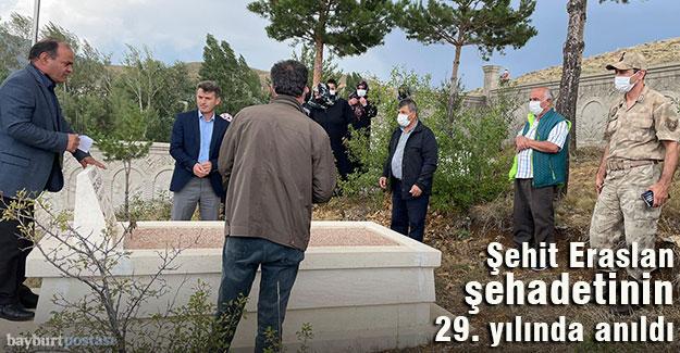 Şehit Erdal Eraslan, şehadetinin 29. senesinde anıldı
