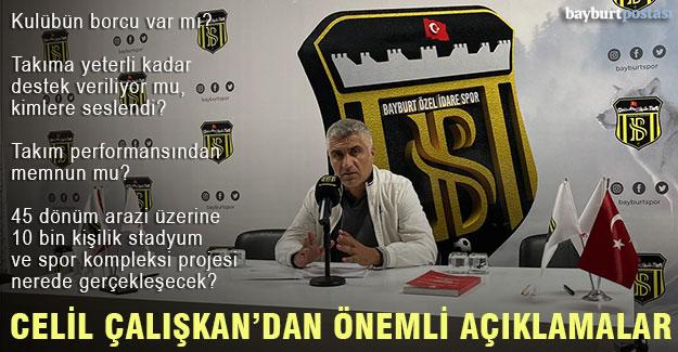 """Başkan Celil Çalışkan: """"Hedef şampiyonluk, Bayburt için Süper Lig de hayal değil"""""""