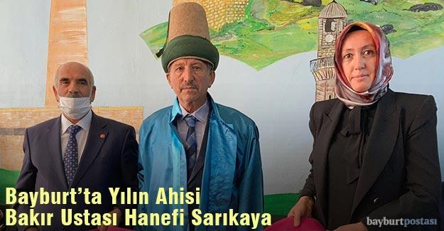 Bayburt'ta Yılın Ahisi Bakır Ustası Hanefi Sarıkaya