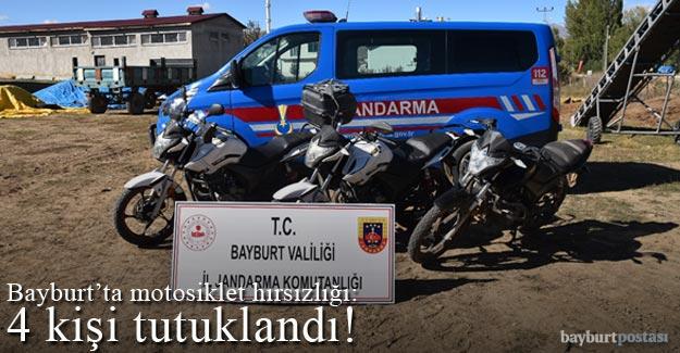 Bayburt'ta motosiklet hırsızlığından 4 kişi tutuklandı!