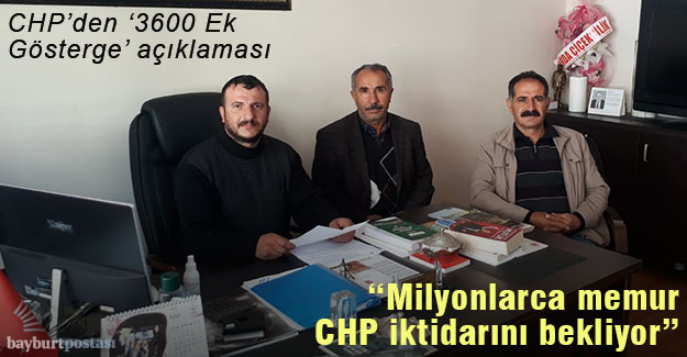 """Yücel: """"3600 Ek Gösterge için milyonlarca memur CHP iktidarını bekliyor"""""""