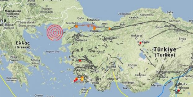 AFAD: Ege Denizi'nde 6.5 şiddetinde deprem