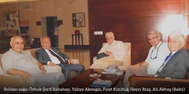 Akengin ve Kızıltuğ, Azerbaycan Yazarlar Birliği Kurultayı'nda