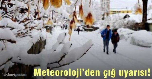 Meteoroloji'den Bayburt için çığ uyarısı!