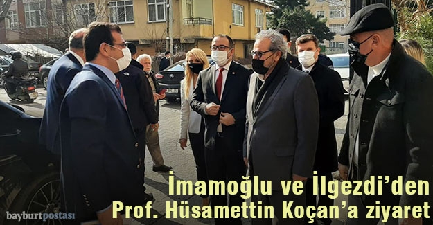İmamoğlu ve İlgezdi'den Prof. Koçan'a ziyaret