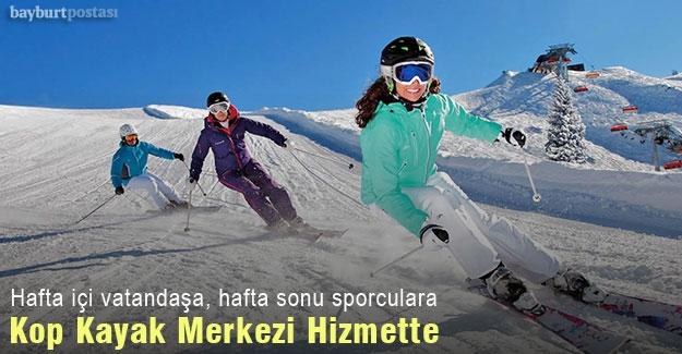 Kop Dağı Kış Sporları ve Kayak Merkezi hizmette
