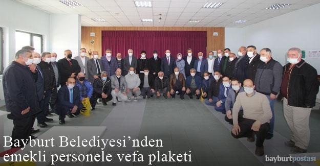Bayburt Belediyesi'nden Emekli Personele Vefa Plaketi