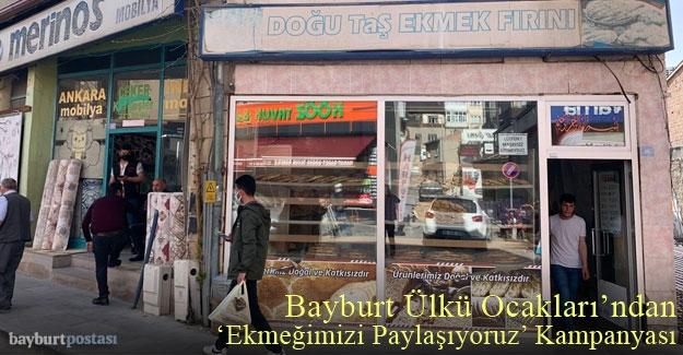 """Bayburt Ülkü Ocakları'ndan 'Ekmeğimizi Paylaşıyoruz"""" kampanyası"""