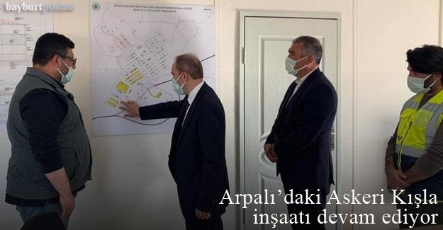 Bayburt'ta Askeri Kışla inşaatı devam ediyor