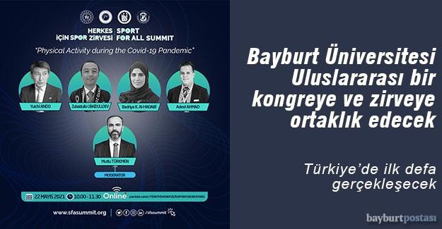 Bayburt Üniversitesi, Spor Alanında Önemli Bir Kongreye ve Zirveye Ortaklık Edecek