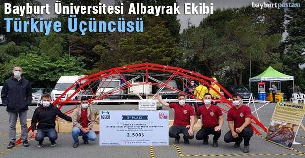 Bayburt Üniversitesi 'Albayrak Ekibi', Çelik Köprü Yarışmasında Türkiye Üçüncüsü