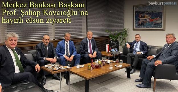 Başkan Pekmezi ve MHP Heyetinden Kavcıoğlu'na hayırlı olsun ziyareti