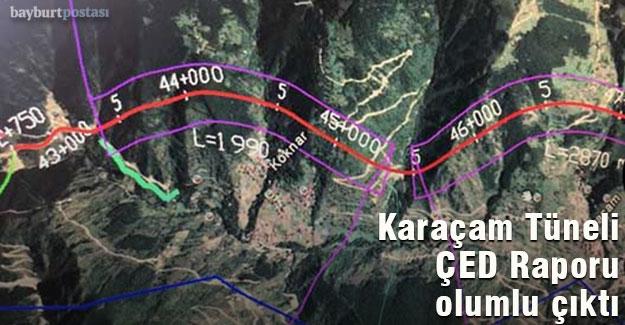 Karaçam Tüneli ÇED Raporu Olumlu Çıktı