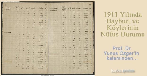 1911 Yılında Bayburt ve Köylerinin Nüfus Durumu
