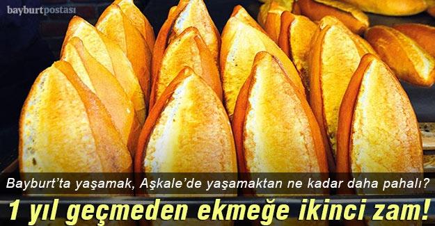 Bayburt'ta son 1 yılda ekmeğe ikinci zam!