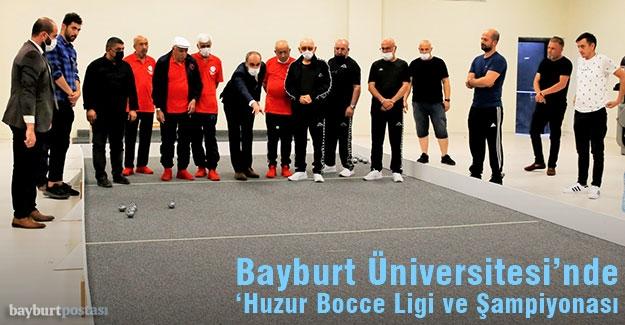 '2021 Huzur Bocce Ligi ve Şampiyonası' Bayburt'ta gerçekleşti