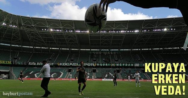 Bayburt Özel İdarespor, Kocaeli karşısında kupaya veda etti!