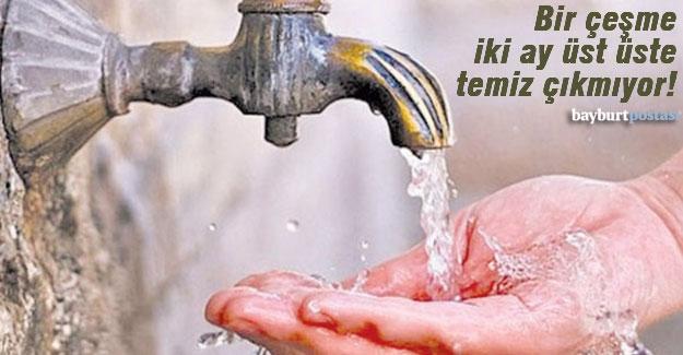 Bayburt'taki çeşmelerden bir ay su için, diğer ay içmeyin!