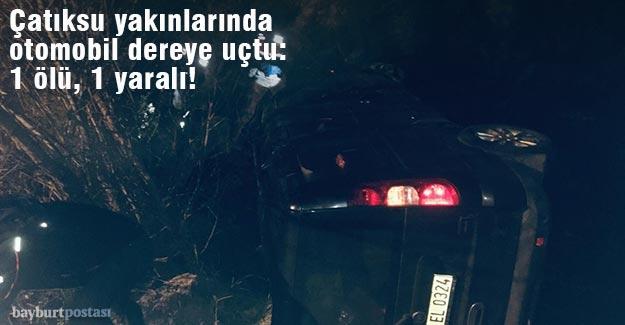 Çatıksu yakınlarında otomobil dereye uçtu: 1 ölü, 1 yaralı!
